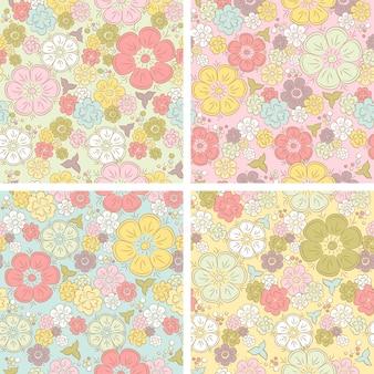Wektor pastelowy kwiatowy wzór