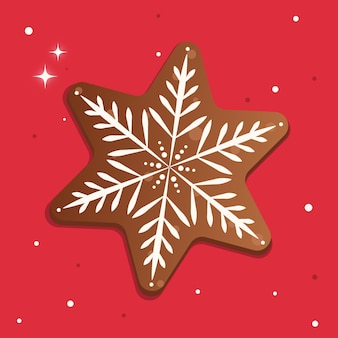 Wektor pierniki ciasteczka świąteczne ilustracja z ciasteczkami świątecznymi