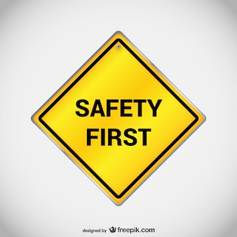 Wektor pierwszy znak bezpieczeństwa
