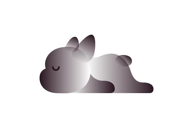 Wektor pies w stylu gradientu. sztuka cyfrowa