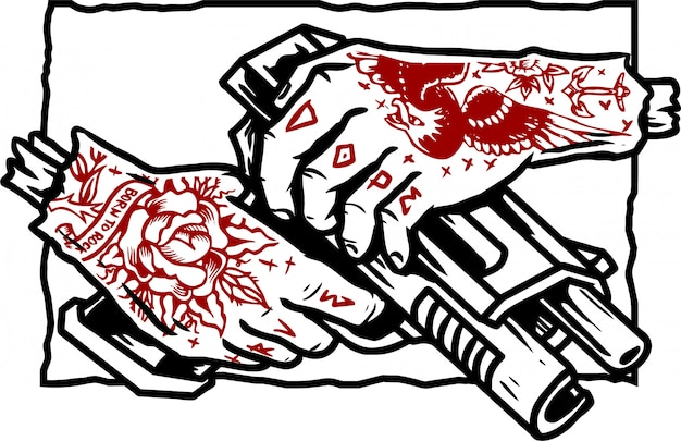 Wektor pistolet gangster