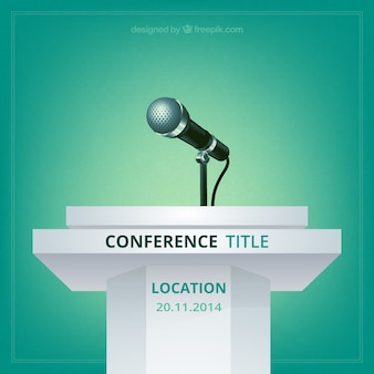 Wektor plakat konferencji