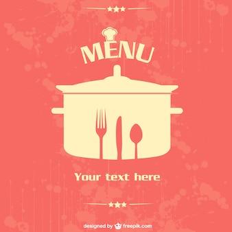 Wektor plakat projekt restauracja