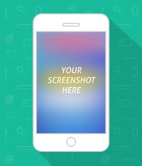 Wektor płaski ekran smartphone