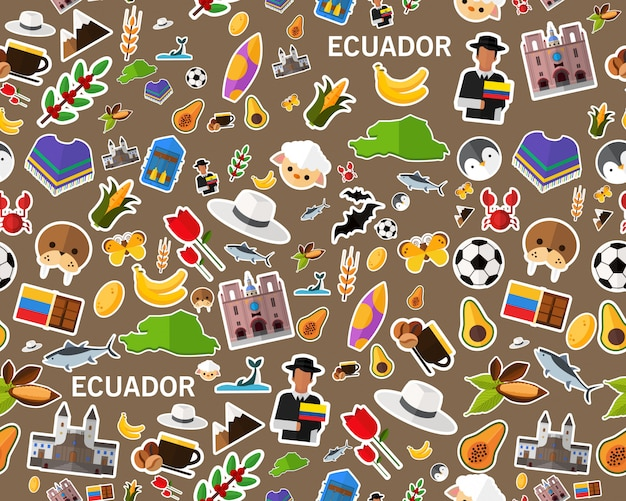 Wektor płaski tekstura wzór ekwador