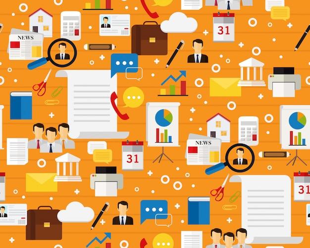 Wektor płaski wzór tekstury zarządzanie dokumentami