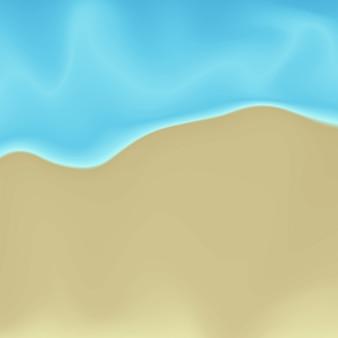 Wektor plaży piasek i woda malarstwo abstrakcyjne tło