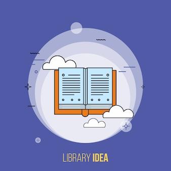 Wektor pomysłu biblioteki. nowoczesna koncepcja płaska.