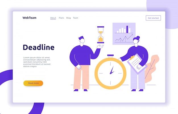 Wektor pracy zespołowej i strategii biznesowej strony internetowej banner