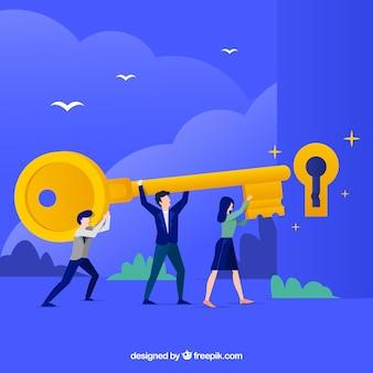 Wektor pracy zespołowej koncepcji biznesowej