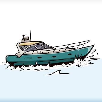 Wektor prędkość transportu łodzi statek