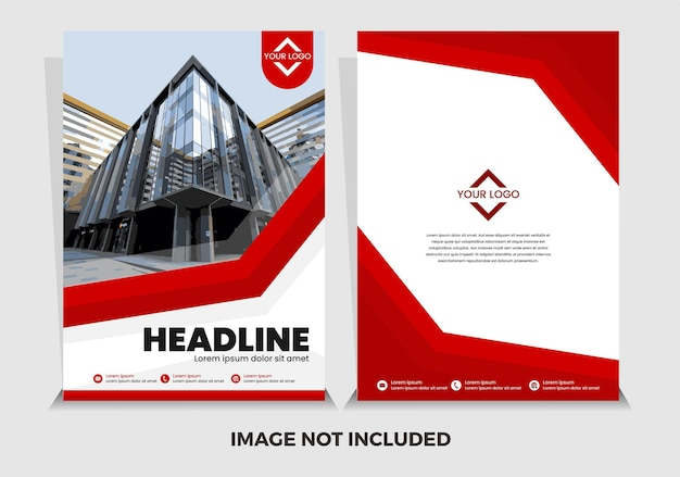 Wektor premium czerwony nowoczesny szablon raportu rocznego