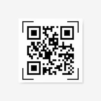 Wektor próbki kodu qr na białym tle