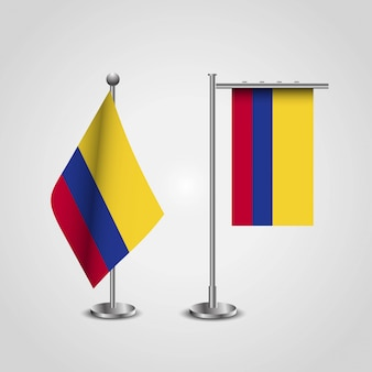 Wektor projekt flaga kolumbii