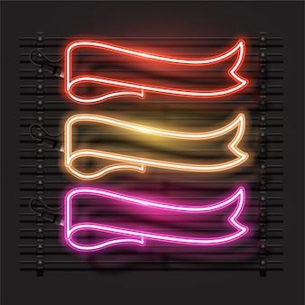 Wektor projekt neon banner.