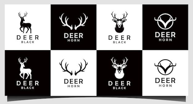 Wektor projektowania logo łowcy jeleni