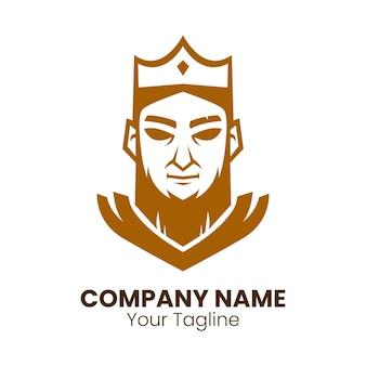 Wektor projektu koncepcji logo króla