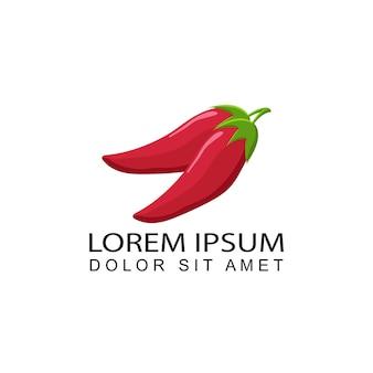 Wektor projektu logo papryki chili