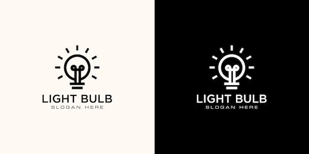 Wektor projektu logo żarówki