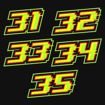 Wektor projektu numeru wyścigowego