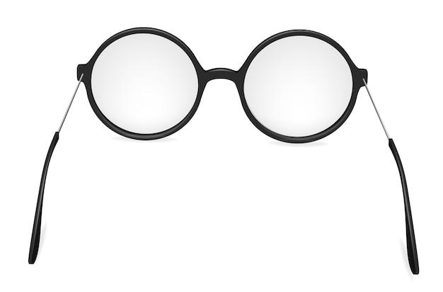 Wektor proste okrągłe okulary, okulary