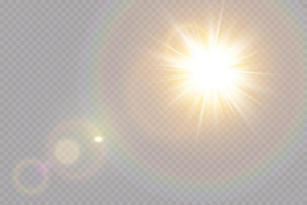 Wektor przezroczyste światło słoneczne specjalny efekt świetlny flary