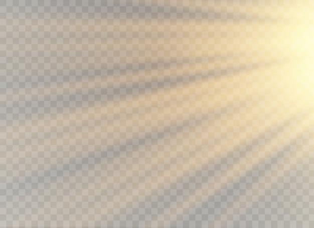 Wektor przezroczyste światło słoneczne specjalny obiektyw błysk efekt świetlny. przednia lampa błyskowa.