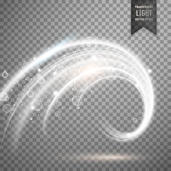 Wektor przezroczysty efekt światła białego