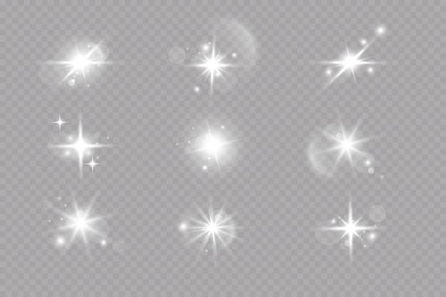 Wektor przezroczysty efekt światła słonecznego specjalnego obiektywu flary