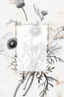 Wektor pusty kwiatowy wzór ramki