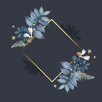 Wektor pusty rama kwiatowy