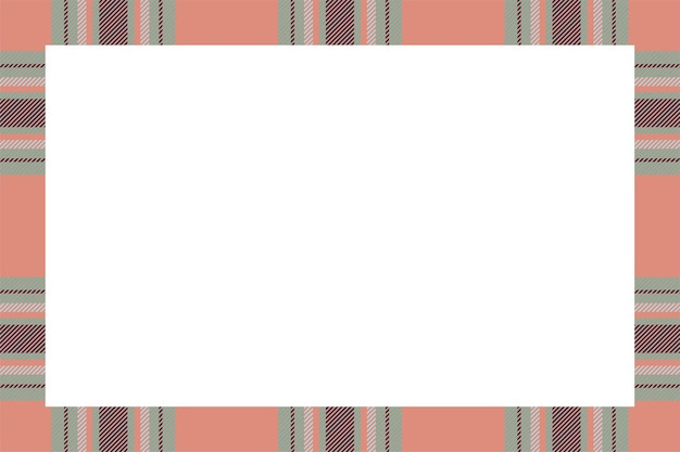 Wektor rama. szkocki wzór granicy w stylu retro. piękno puste tło, szablon na zdjęcie, portret, album. ornament w kratę w szkocką kratę.