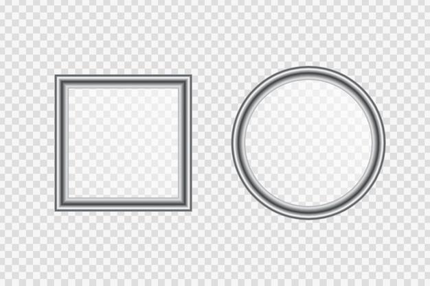 Wektor realistyczne metalowe ramy na białym tle