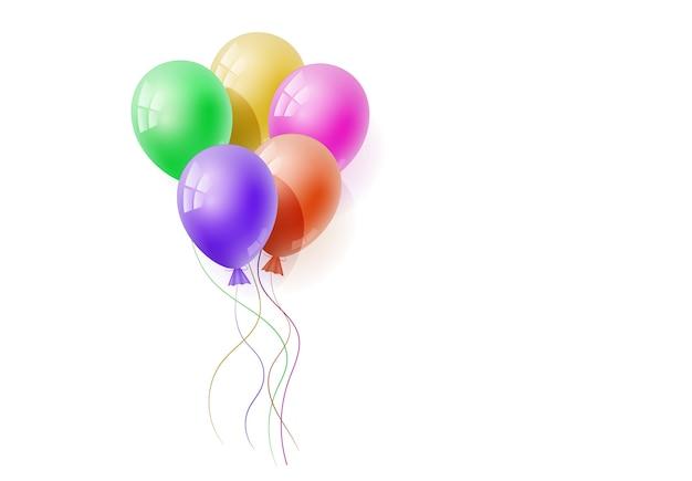 Wektor realistyczny banch helu balonów