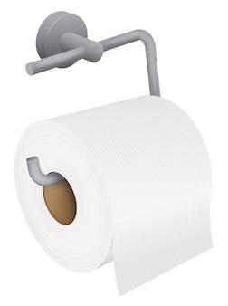 Wektor realistyczny uchwyt na papier toaletowy