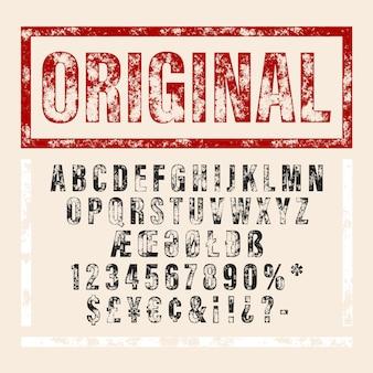 Wektor ręcznie rysowane alfabetu. pędzlem malowane litery.