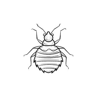 Wektor ręcznie rysowane pająk zarys doodle ikona. pająk szkic ilustracji do druku, sieci web, mobile i infografiki na białym tle.