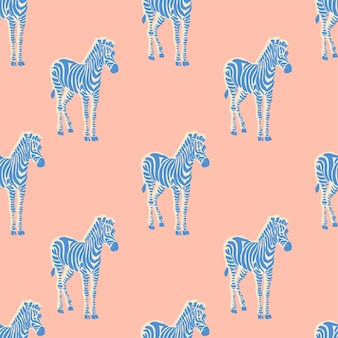 Wektor retro neonowy kolor zebra ilustracja motyw bezszwowe powtórzenie wzór pliku cyfrowego grafika