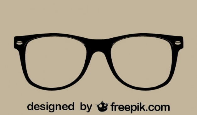 Wektor retro okulary