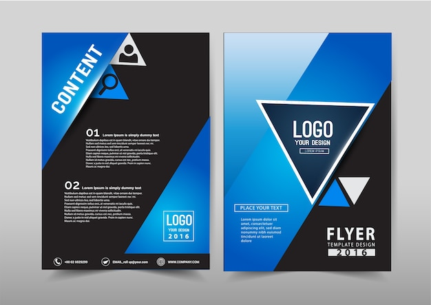 Wektor roczne sprawozdanie ulotki broszury ulotki szablon rozmiar a4 projektu.