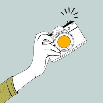 Wektor rocznik kamera