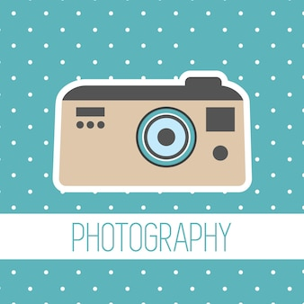Wektor rocznika polaroid aparat