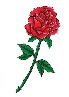 Wektor róża valentine