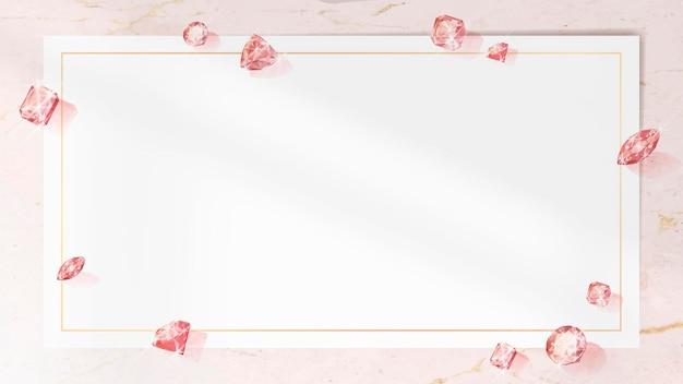 Wektor różowy kryształowy klejnot