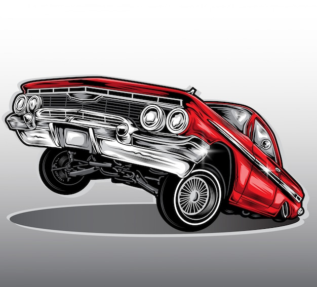Wektor samochodu lowrider