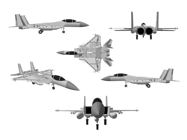 Wektor samolotów odrzutowych