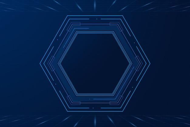Wektor sci fi sześciokątny futurystyczny wzór