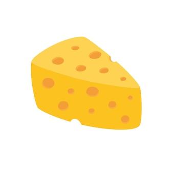 Wektor ser na białym tle