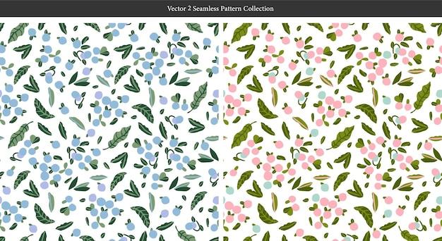 Wektor skandynawia sztuka śliczna niebieska jagoda i liść ilustracja motyw powtarzalny wzór
