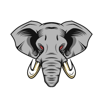Wektor słonia do logo maskotki i innych zastosowań